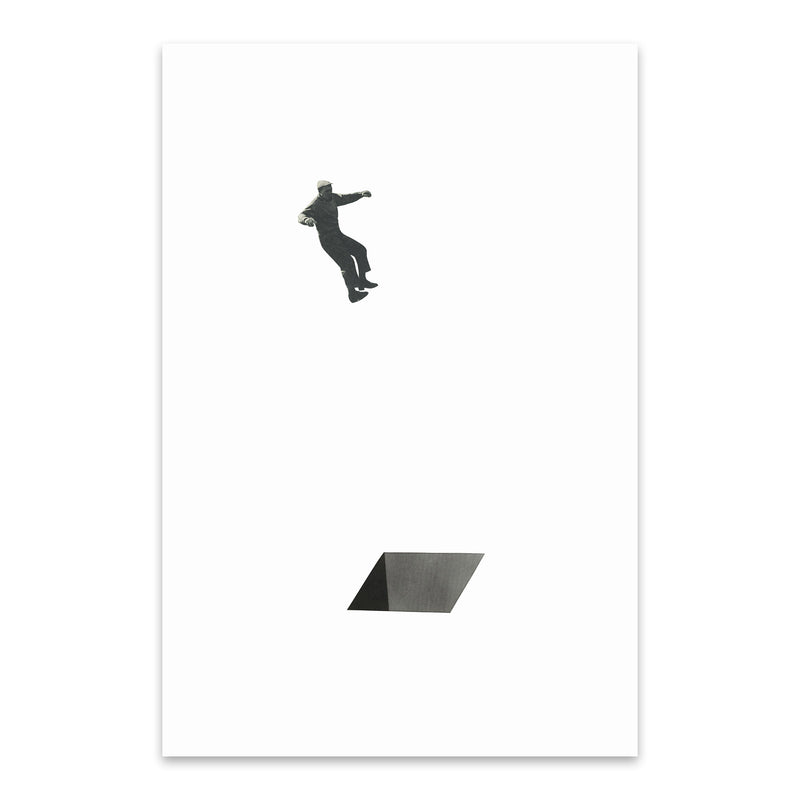 Abstract Geometric Shape Man Metal Art Print