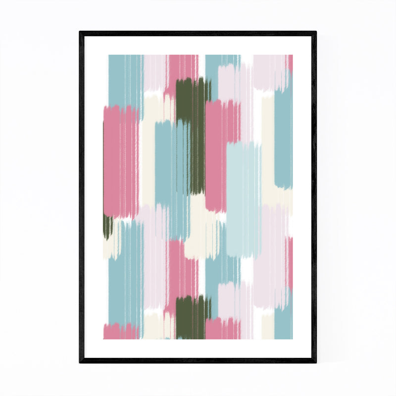 Abstract Pattern Pastel Shapes Framed Art Print