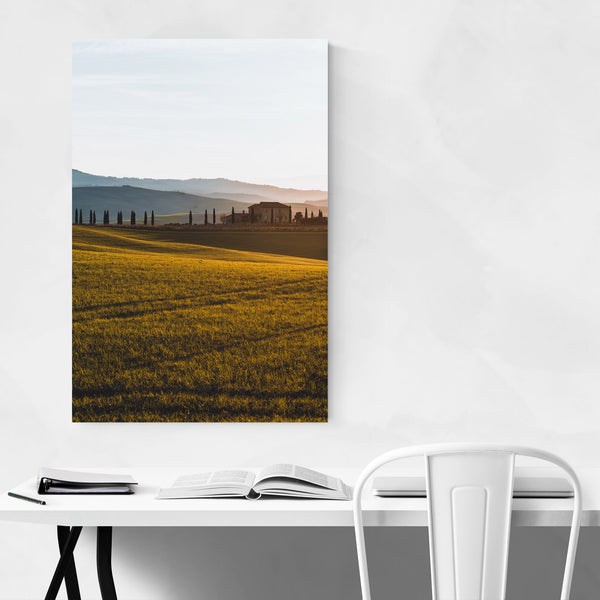 Tuscany Italy Cypresses Fields Art Print