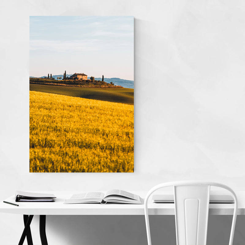 Tuscany Italy Landscape Nature Metal Art Print