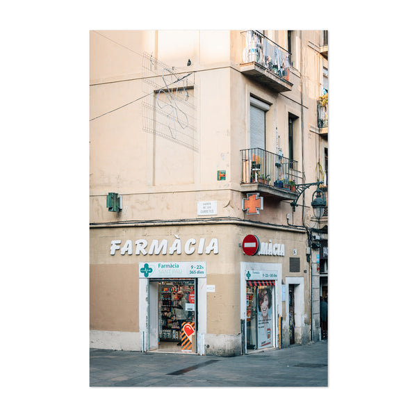 Farmacia Barcelona Spain Photo Art Print