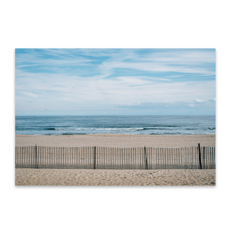 Asbury Park, New Jersey Beach Metal Art Print
