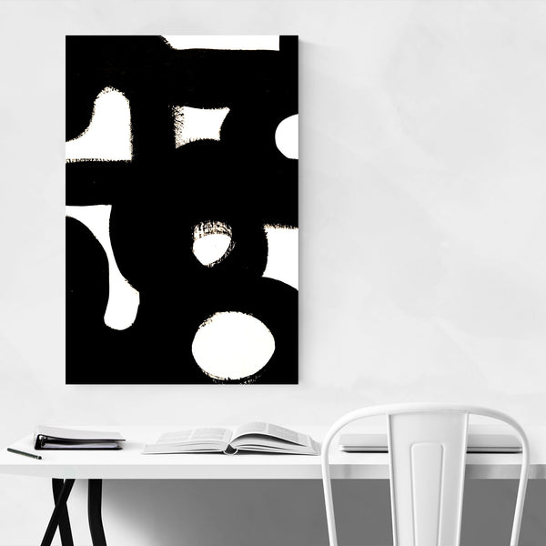 Abstract Black & White Painting Art Print
