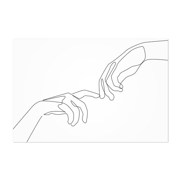 Scandinavian Hand Line Drawing Art Print