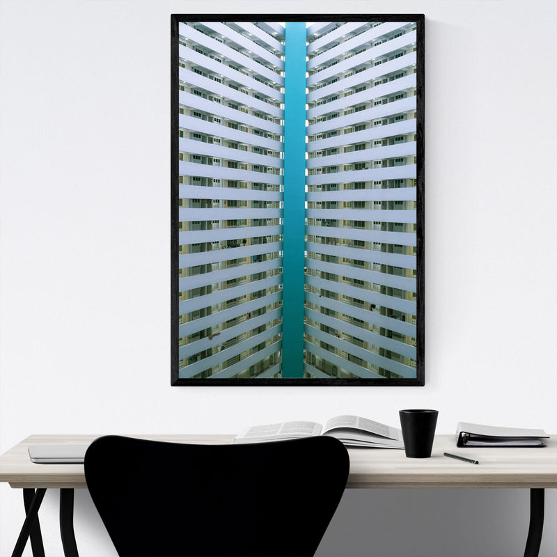 Singapore Architecture Photo Framed Art Print