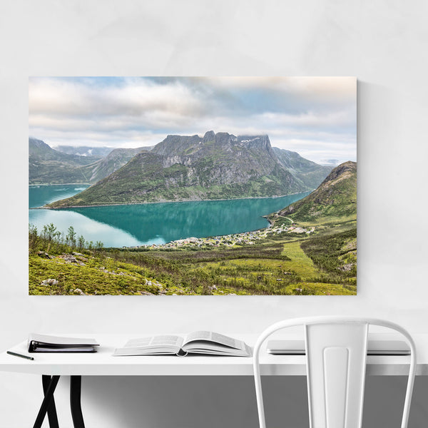 Norway Fjord Mountain Landscape Art Print