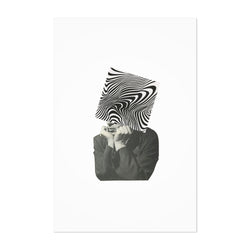 Abstract Optical Illusion Man Art Print