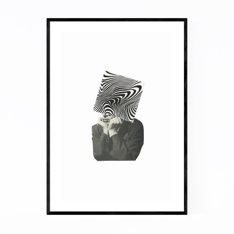 Abstract Optical Illusion Man Framed Art Print