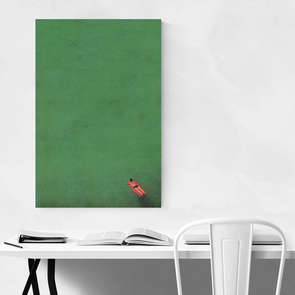 Abstract Pool Float Minimal Art Print