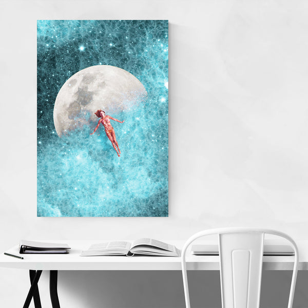 Universe Space Moon Cosmic Stars Art Print