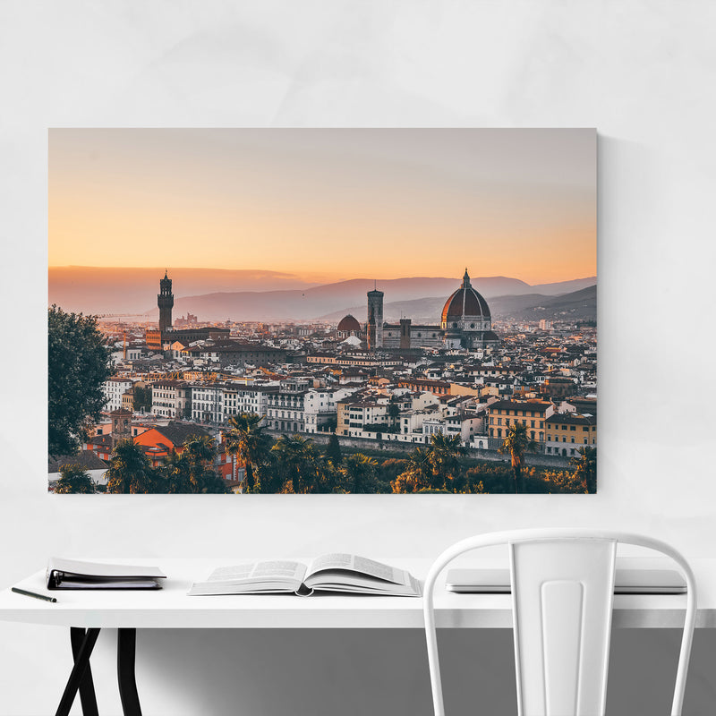 Florence Italy Cityscape Europe Canvas Art Print