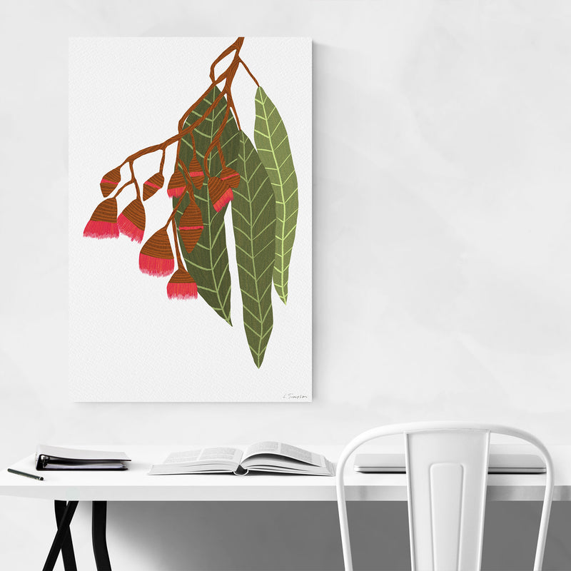 Floral Botanical Flowering Gum Metal Art Print