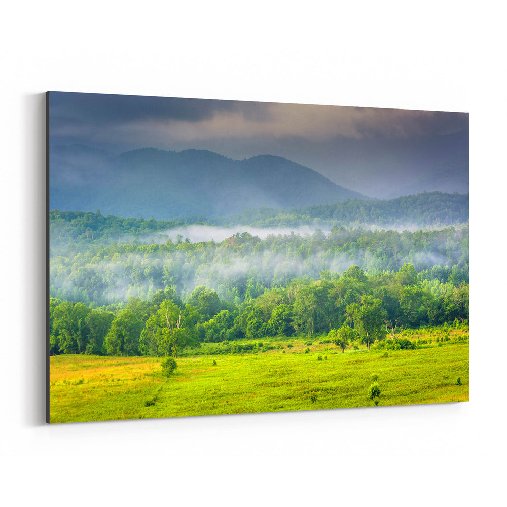 Great Smoky Mountains Cades Cove Canvas Art Print