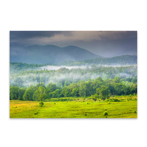 Great Smoky Mountains Cades Cove Metal Art Print