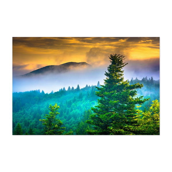 Blue Ridge Parkway Mountains NC Art Print