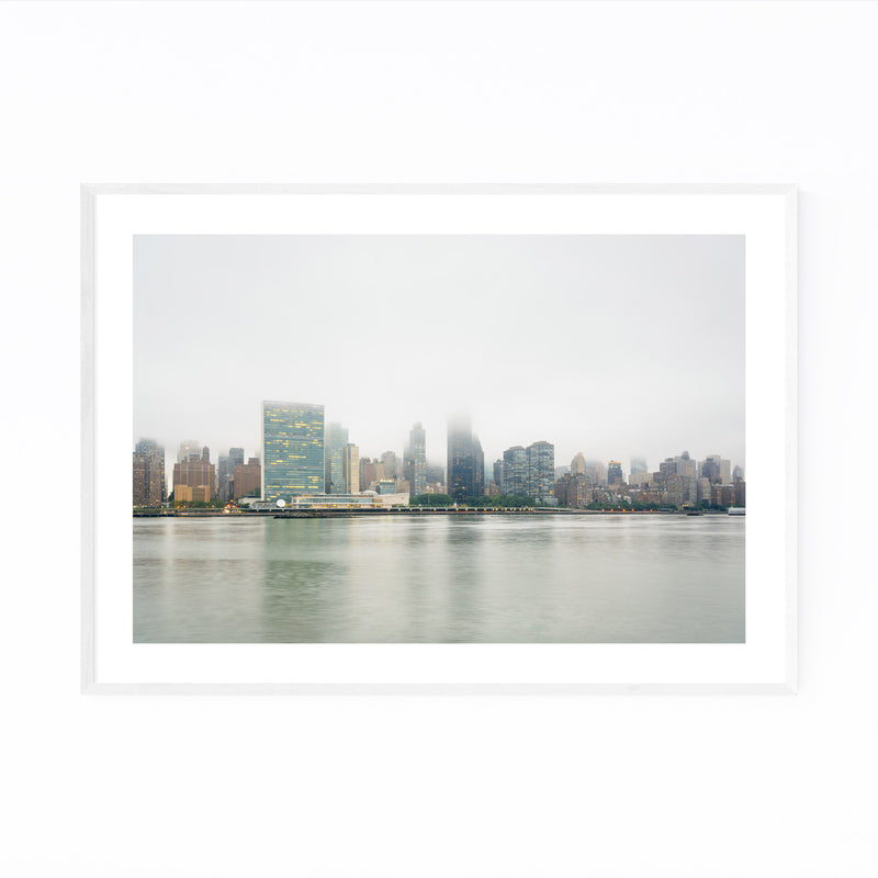 New York City Manhattan Skyline Framed Art Print