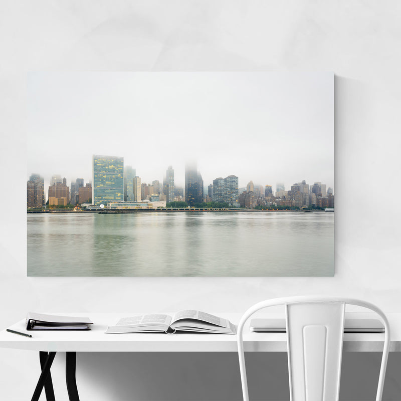 New York City Manhattan Skyline Metal Art Print