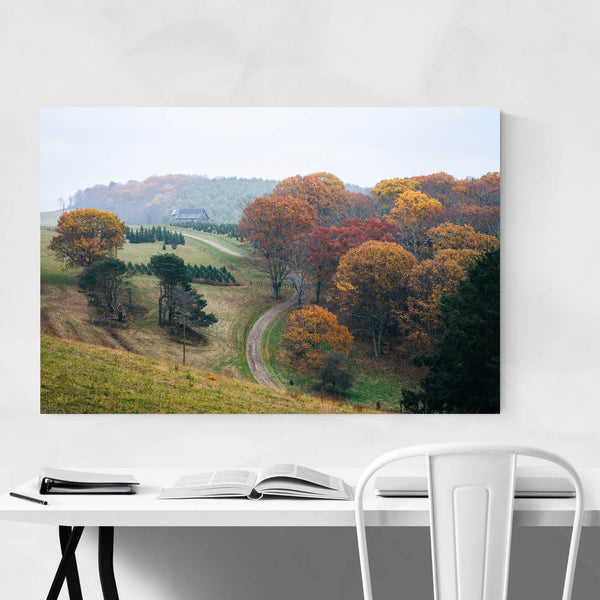 Farm in Autumn Blue Ridge VA Art Print