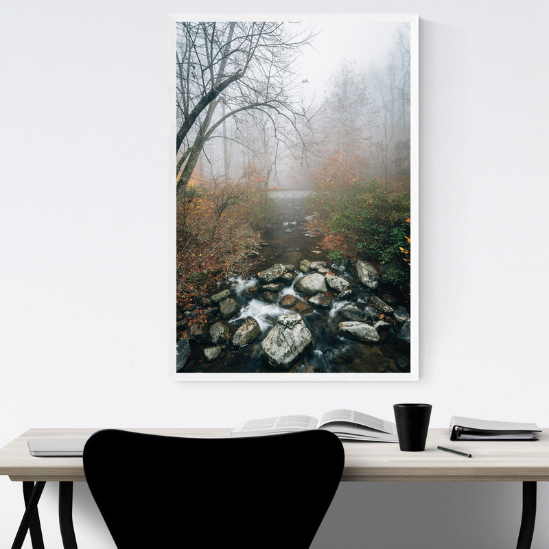 Virginia Autumn Fall River Framed Art Print