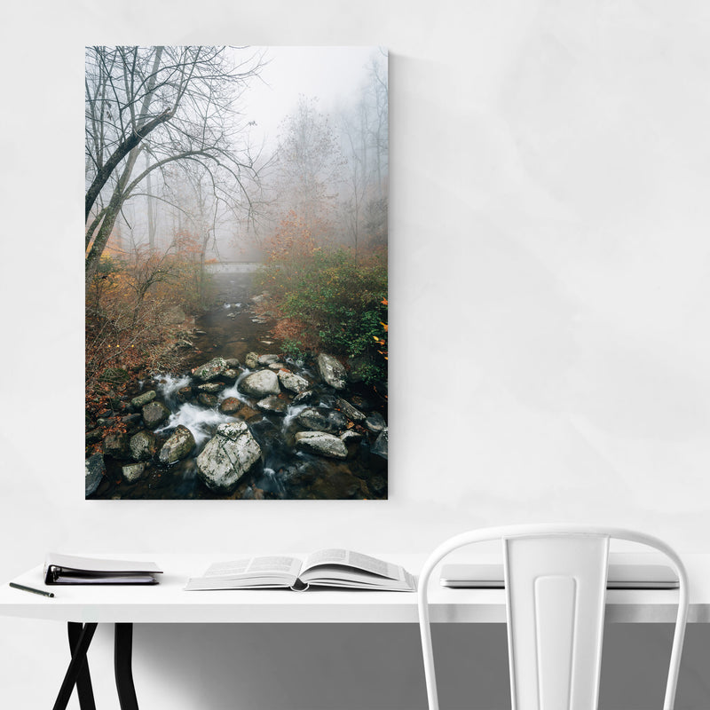 Virginia Autumn Fall River Metal Art Print