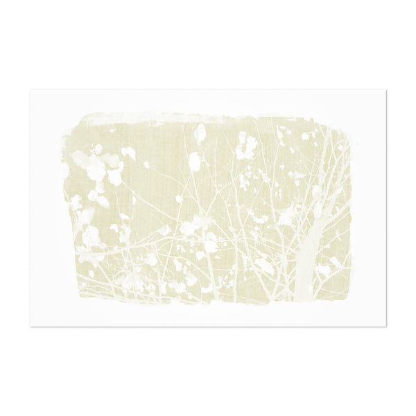 Yellow Nature Botanical Tree  Art Print