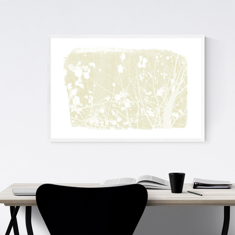 Yellow Nature Botanical Tree  Framed Art Print