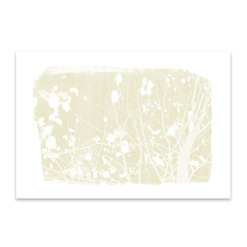 Yellow Nature Botanical Tree  Metal Art Print