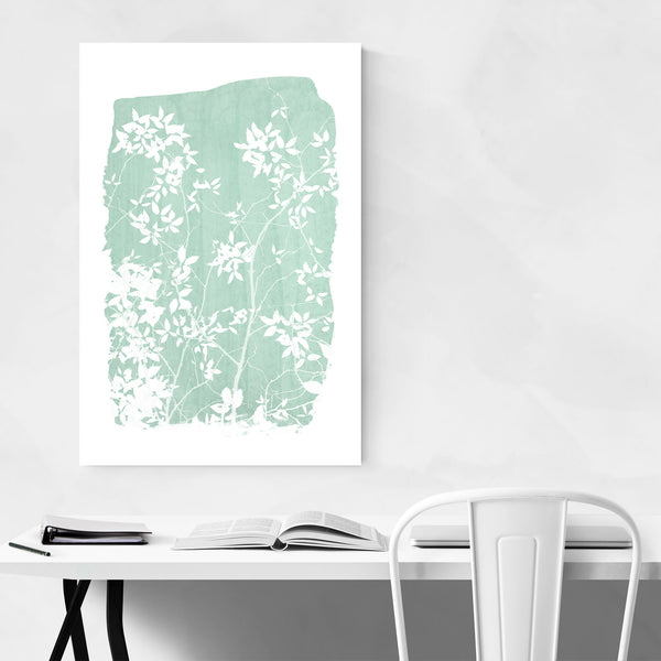 Green Nature Botanical Leaves Art Print
