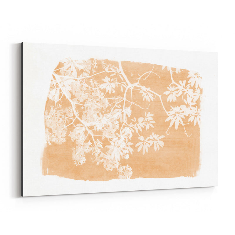 Orange Nature Botanical  Leaves Canvas Art Print