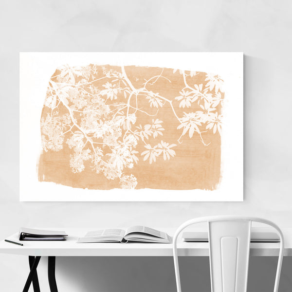 Orange Nature Botanical  Leaves Art Print