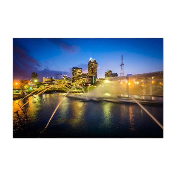 Charlotte Skyline North Carolina Art Print