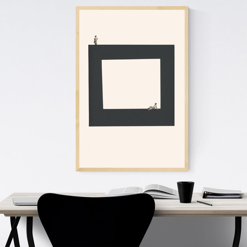 Abstract Geometric Square Woman Framed Art Print