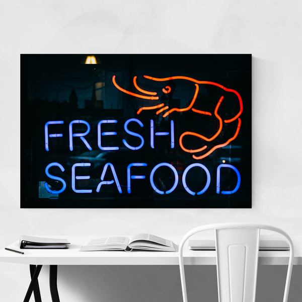 Fresh Seafood Sign Maryland Art Print