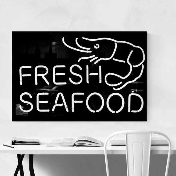 Fresh Seafood Sign Coastal Art Print