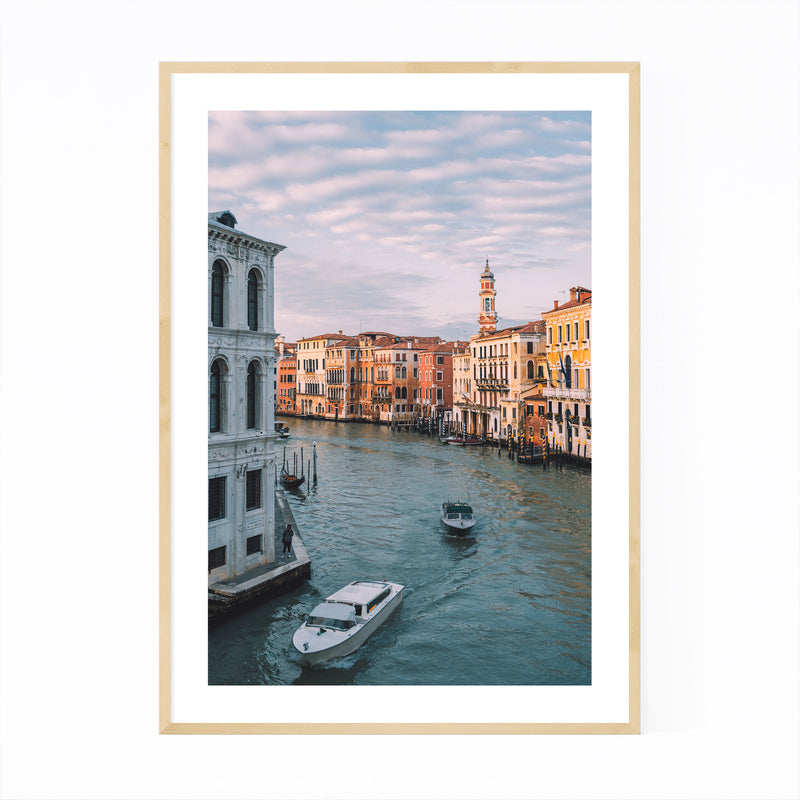 Venice Italy Grand Canal Europe Framed Art Print