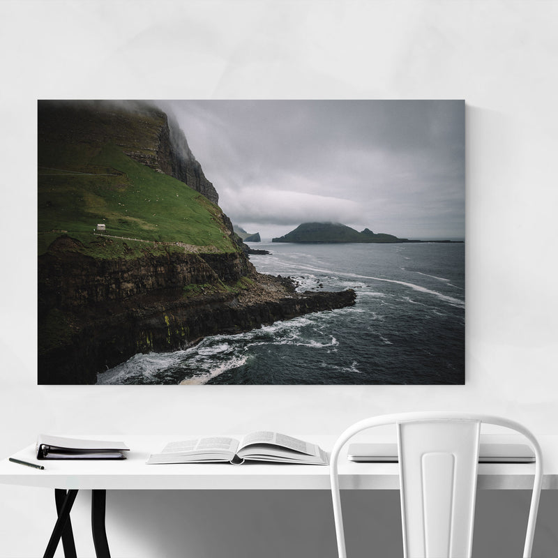 Faroe Islands Landscape Nature Metal Art Print