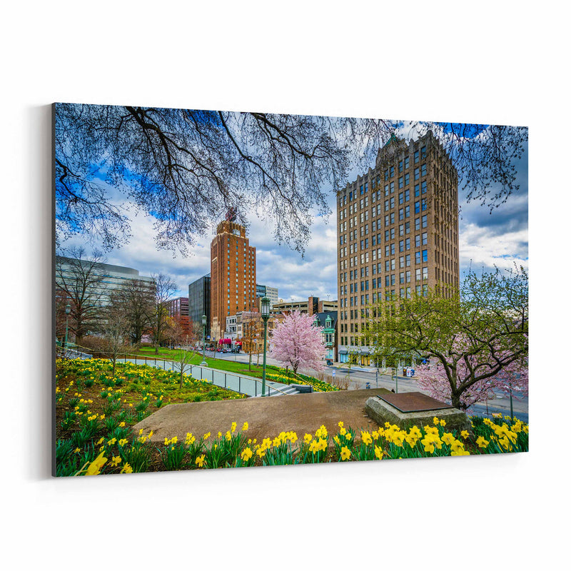 Downtown Harrisburg Pennsylvania Canvas Art Print
