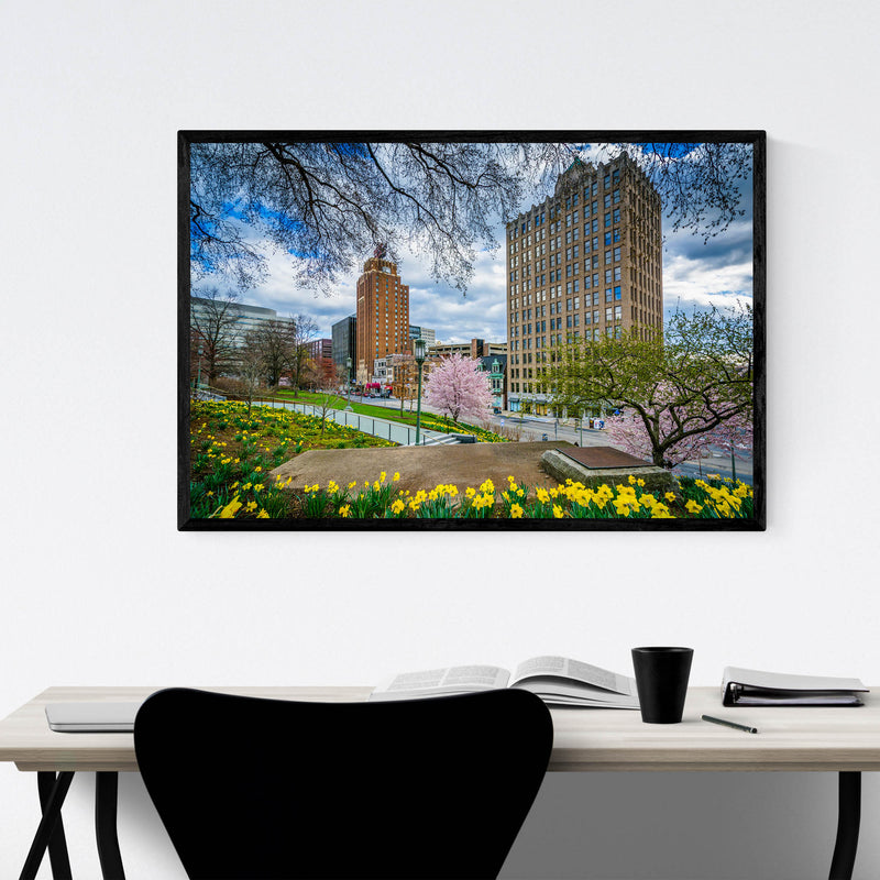 Downtown Harrisburg Pennsylvania Framed Art Print