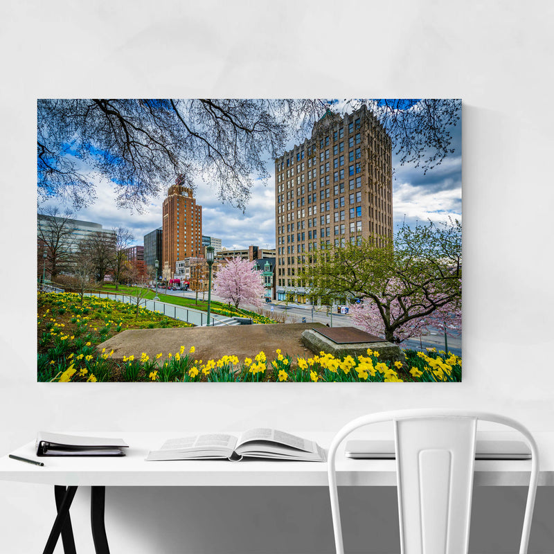 Downtown Harrisburg Pennsylvania Metal Art Print