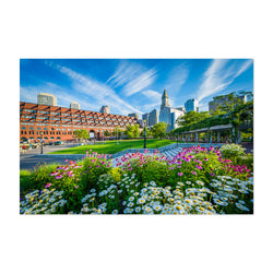 Boston City North End Waterfront Art Print