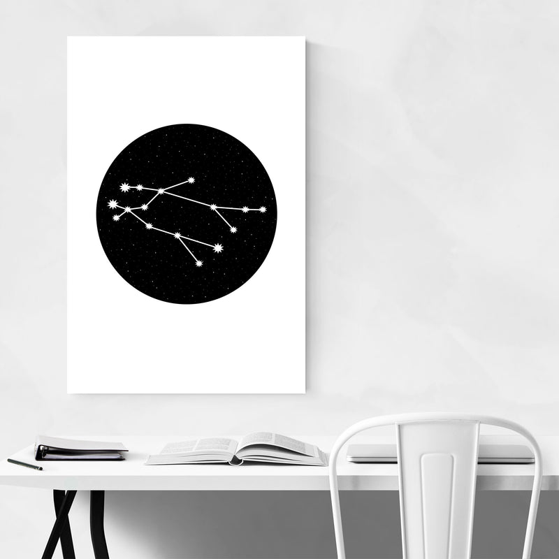 Night Sky Gemini Astrology Zodiac Metal Art Print