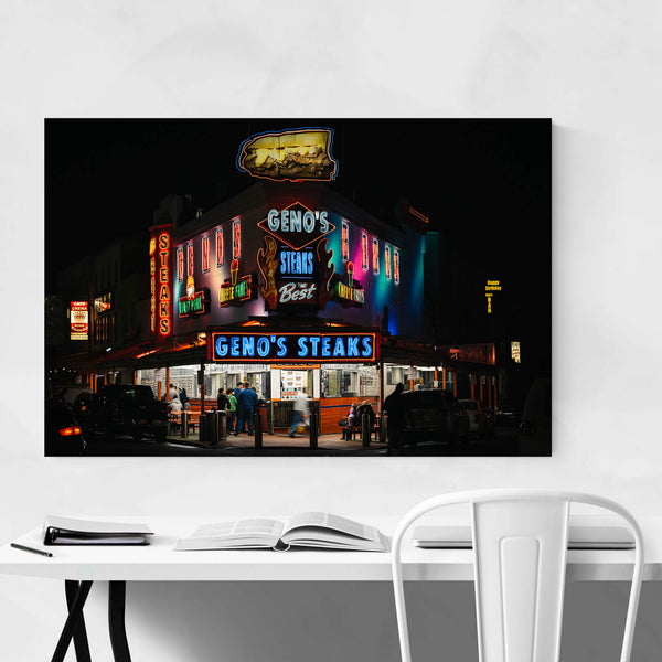 Philadelphia Geno's Steaks Sign Art Print