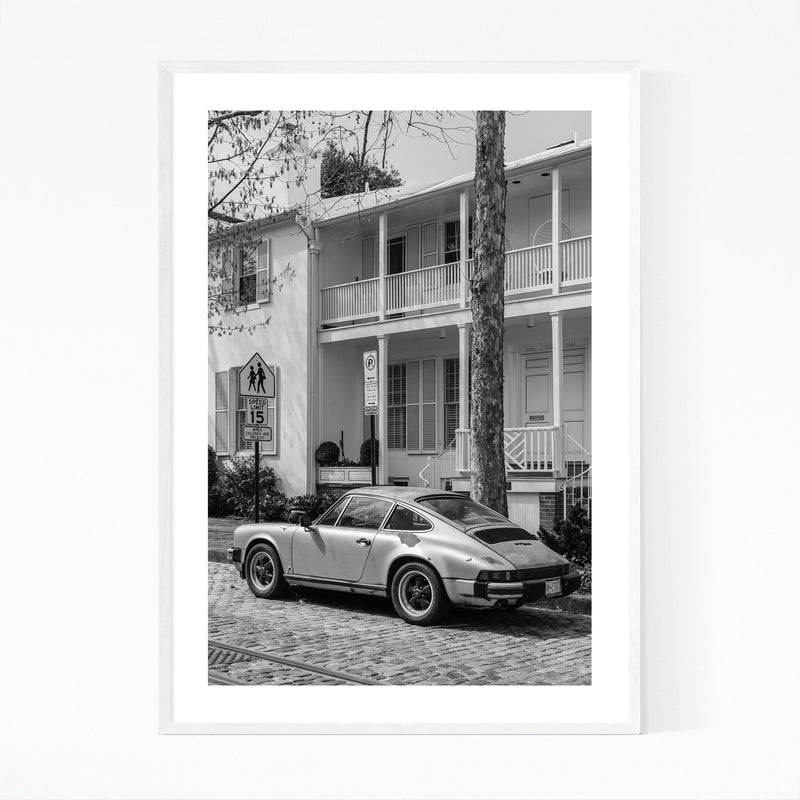 Black & White Georgetown DC Framed Art Print