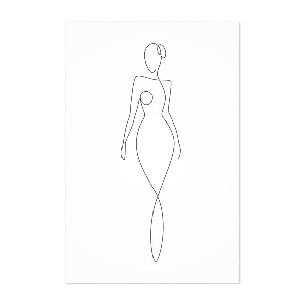 Minimal Fashion Feminine Body Art Print