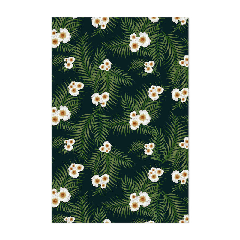 Tropical Floral Pattern Art Print