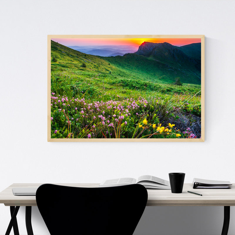 Bulgaria Mountains Landscape Framed Art Print