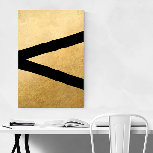 Gold & Black Geometric Art Print