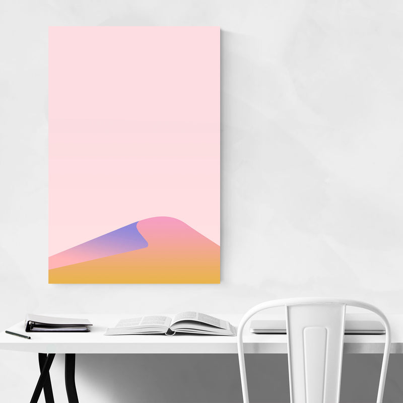 Minimal Digital Desert Landscape Canvas Art Print