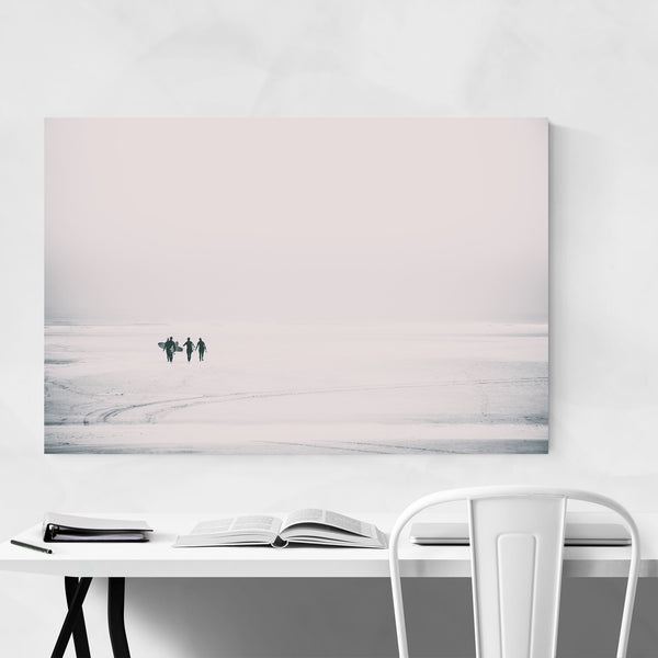 Coastal Surfing Beach Photo Art Print