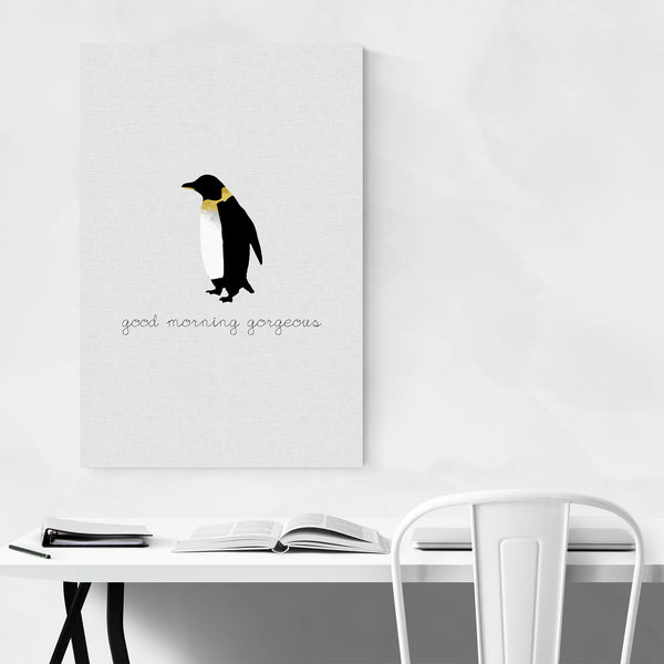 Cute Penguin Typography Animal Art Print